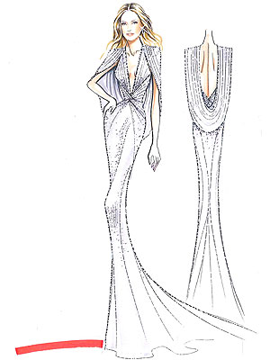 Kate Hudson's Oscars dress sketch