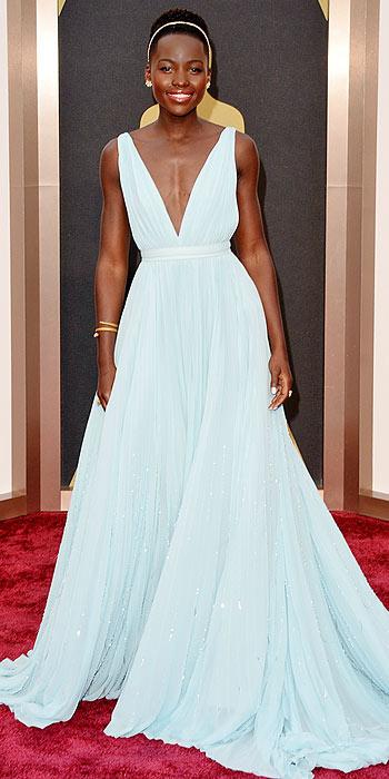 Lupita Nyong'o Prada Oscars gown