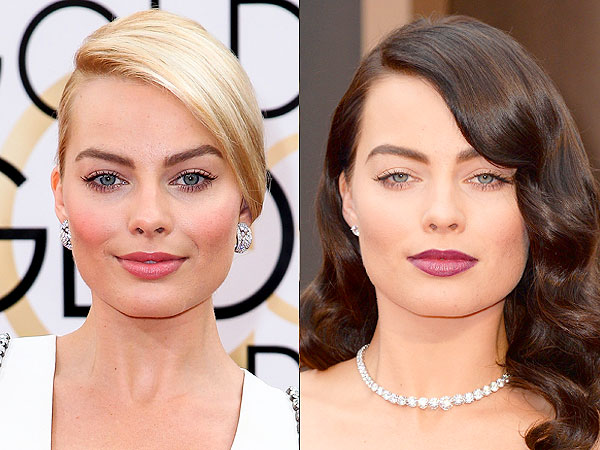 Margot Robbie dark brown hair Oscars