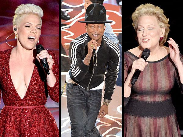 VOTE: Which Oscar Performance Was Your Favorite? | Oscars 2014, Bette Midler, Pharrell Williams, Pink
