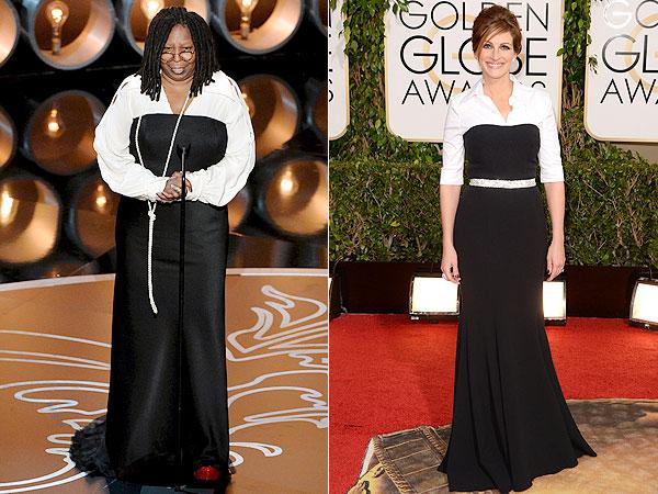 Whoopi Goldberg Oscars, Julia Roberts Golden Globes