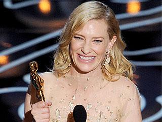 Winning! Cate Blanchett Toasts Women in Film | Oscars 2014, Cate Blanchett
