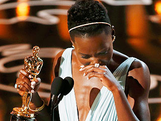 Lupita Nyong'o Fights Back Tears After Best Supporting Actress Win