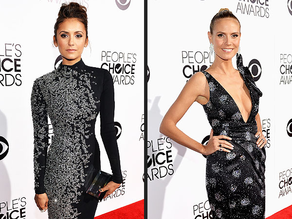Heidi Klum, Lucy Hale & More: Hang with the Stars at the People's Choice Awards | Heidi Klum, Nina Dobrev