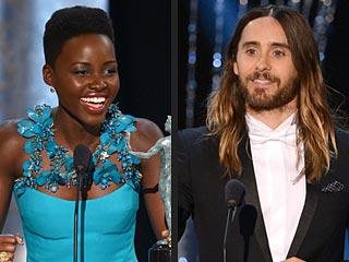 The 10 Best GIFs of the 2014 SAG Awards | Jared Leto, Lupita Nyong'o