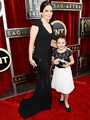 Tina Fey and Daughter Alice at SAG Awards