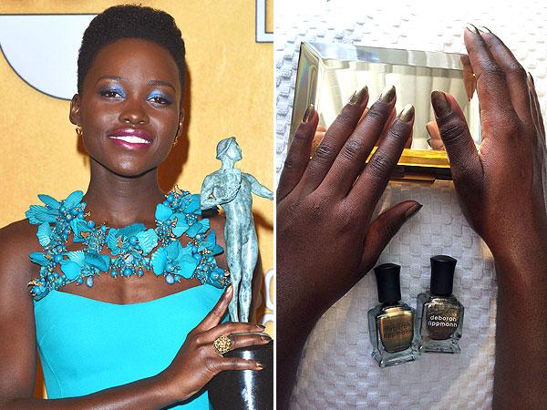 Lupita Nyong'o Deborah Lippmann nailpolish