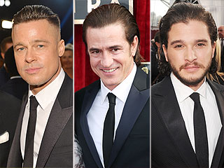The Mane Men at the SAG Awards (AKA: An Excuse to Talk About Brad Pitt's Hair) | Screen Actors Guild Awards 2014, Individual Class, Brad Pitt, Dermot Mulroney