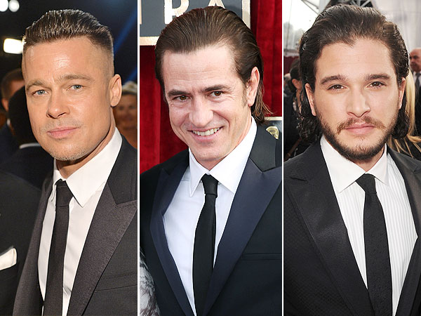 Brad Pitt, Dermot Mulroney and Kit Harrington
