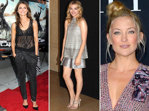 Red Carpet Trend Report: It's All About Bra-Baring, Ladies | Chloe Grace Moretz, Kate Hudson, Keri Russell