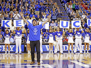 Josh Hutcherson Greeted by Hunger Games Salute at Kentucky Wildcats Game