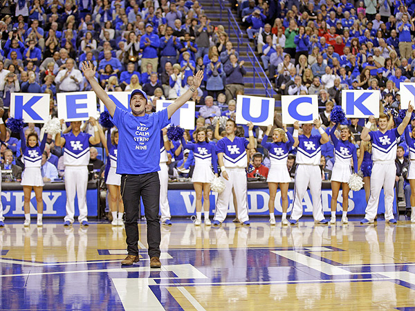 Josh Hutcherson Gets Hunger Games Salute at Kentucky Louisville Game