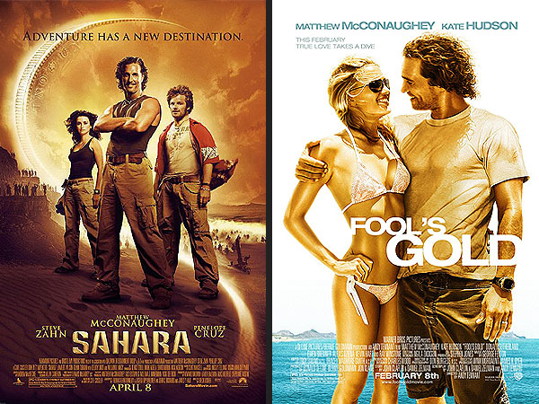 Matthew McConaughey's Career Arc Analyzed Through His Movie Posters| Matthew McConaughey, Media Products, Movies