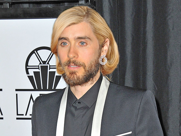 Jared Leto's Golden Globe hair with Hayden Panettiere and Julia Robert ... Jared Leto