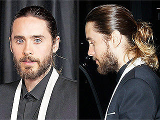 Jared Leto's Messy Golden Globe Man Bun Gets a Celebrity Makeover