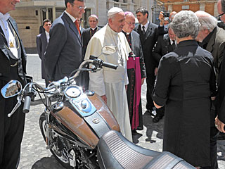 Here's Your Chance to Own the Pope's Motorcycle