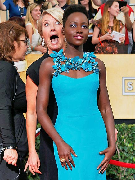 Emma Thompson Is the Mary Poppins of the Awards Season| Screen Actors Guild Awards 2014, Emma Thompson, Lupita Nyong'o, Meryl Streep, Tom Hanks