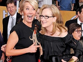 Emma Thompson Brings More Red Carpet Antics to the SAGs | Screen Actors Guild Awards 2014, Individual Class, Emma Thompson