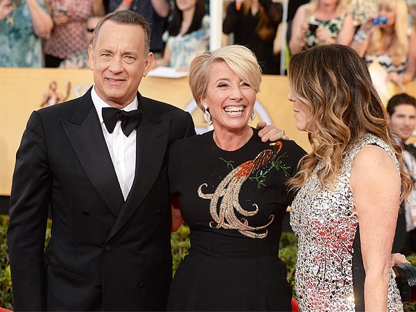 Emma Thompson Is the Mary Poppins of the Awards Season| Screen Actors Guild Awards 2014, Emma Thompson, Lupita Nyong'o, Meryl Streep, Tom Hanks, Actor Class