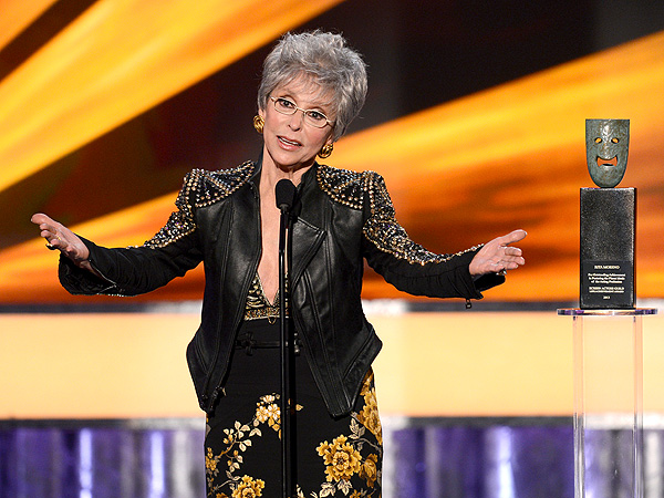 SAG Awards: Rita Moreno, Bryan Cranston Sing in Their Acceptance Speeches