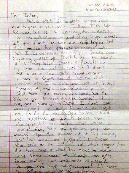 Girl's Letter to Her Future Self, Written Months Before She Died, Goes Viral| Around the Web