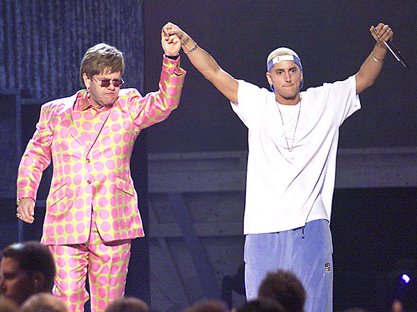Relive Eminem Hugging Elton & 14 More Epic Grammy Performances | Grammy Awards 2001, Elton John, Eminem