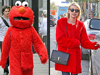 Which Is Witch: Emma Roberts Channels Elmo in New Coat | Emma Roberts