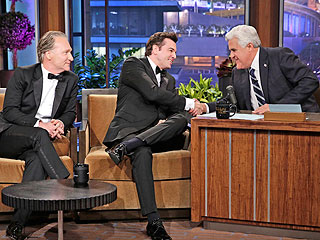 Seth MacFarlane & Bill Maher Sing to Jay Leno About Rivalry with Letterman | Bill Maher, Jay Leno, Seth MacFarlane