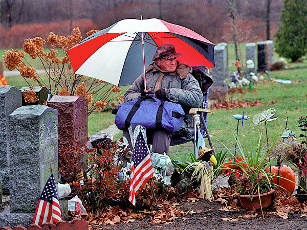 Rocky Abalsamo Sat Beside Wife's Grave for 20 Years