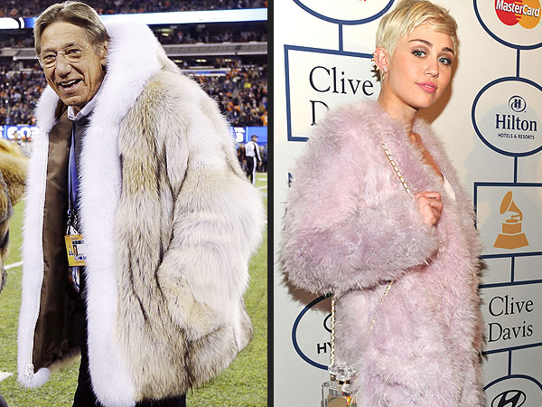 Miley Cyrus and 7 Other Things that Look Like Joe Namath's Coat