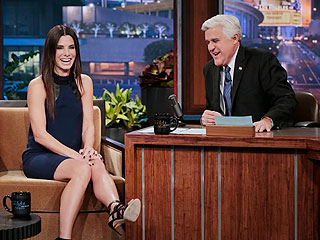 Sandra Bullock Bids Jay Leno a Tearful Goodbye (VIDEO) | Sandra Bullock
