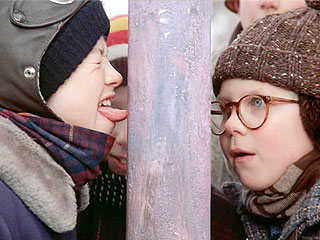 Flick, Is That You? Massachusetts Student Gets Tongue Stuck to Pole | A Christmas Story