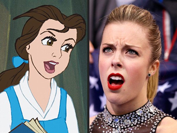 9 Sochi Olympians with Disney Doppelgängers| Winter Olympics 2014, Ashley Wagner, Gracie Gold, Meryl Davis, Olympics, Media Products