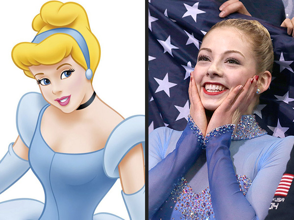 9 Sochi Olympians with Disney Doppelgängers| Winter Olympics 2014, Ashley Wagner, Gracie Gold, Meryl Davis, Olympics, Media Products, Movies