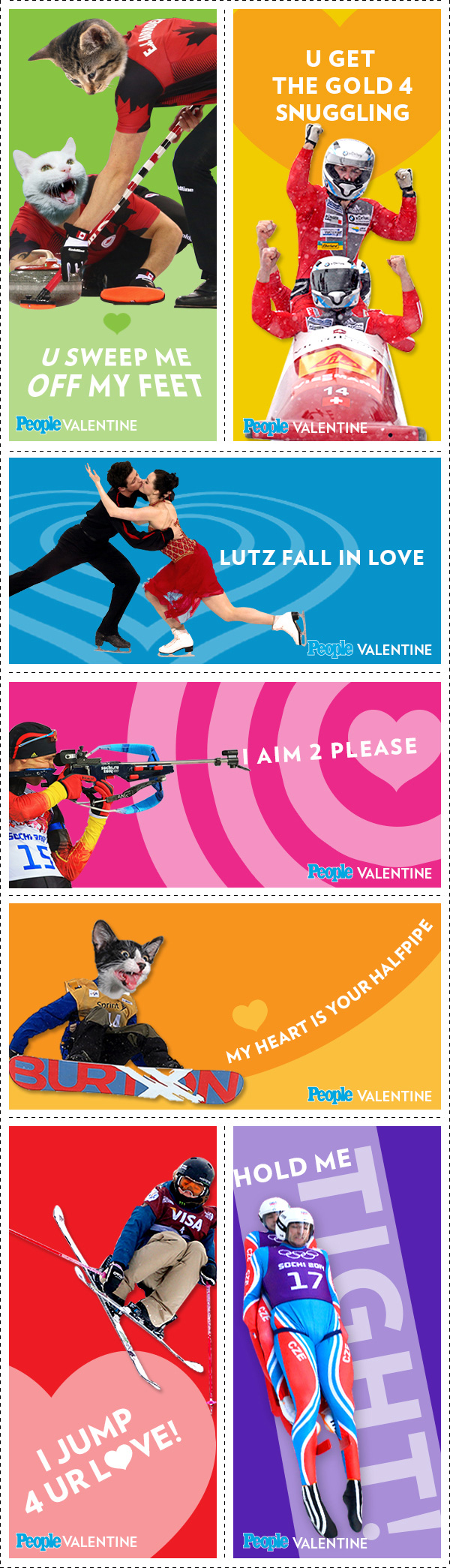 Go for the Gold with These Winter Olympics-Themed Valentines| Winter Olympics 2014, Valentine's Day, Olympics