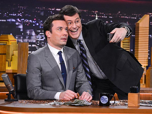 Stars Pay Jimmy Fallon After Losing 'Bet' That He'd Never Host Tonight Show