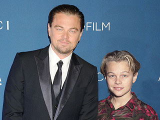 Time Warp: See 10 Oscar Nominees Posing with Their Younger Selves | Oscars 2014, Leonardo DiCaprio