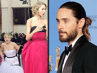 We Predict This Year's Oscar Meme & Look Back at Past Meme-orable Moments | Golden Globe Awards 2014, Oscars 2014, Jared Leto, Jennifer Lawrence, Taylor Swift