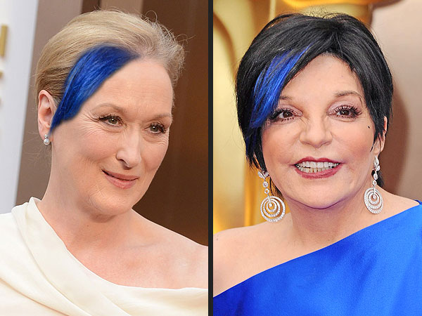 See Meryl Streep, Martin Scorsese and More with Liza Minnelli's Blue Hair Streak | Liza Minnelli, Meryl Streep