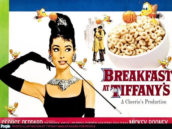 For National Cereal Day, We've Photoshopped Famous Movie Posters to Be About Cereal| Breakfast at Tiffany's, Milk, Serial Mom, The Breakfast Club, Food