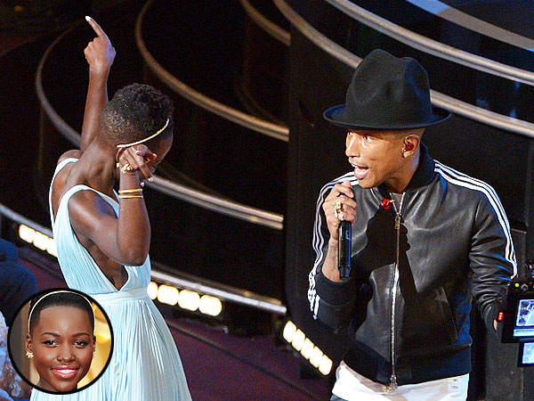 Gif Happy: Dancing with Pharrell, Lupita, Meryl and More | Oscars 2014, Lupita Nyong'o, Pharrell Williams