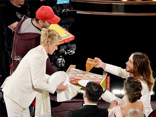 Meet Big Mama's and Papa's, the Pizzeria That Delivered to the Oscars | Oscars 2014, Ellen DeGeneres, Jared Leto