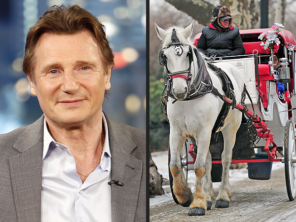 Liam Neeson Fights to Stop Ban on New York City's Horse-Drawn Carriages | Liam Neeson
