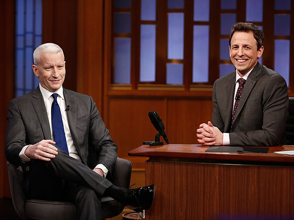 Watch Anderson Cooper Recall Meeting Seth Meyers at 'Gayest Gym on the Planet'