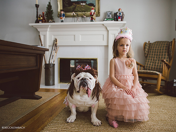 dog girl 3 600x450 PHOTOS: A Girl & Her Bulldog Will Teach You About Family
