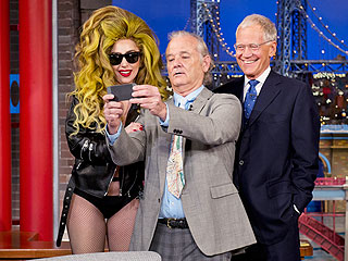 Watch: Lady Gaga Stops by Late Show for a Selfie with Bill Murray | Bill Murray, David Letterman, Lady Gaga