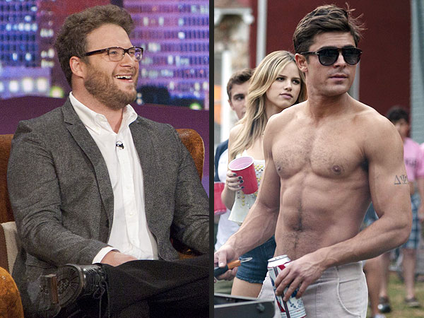 Watch Seth Rogen Rave About Costar Zac Efron's Sexy Body | Conan, Conan O'Brien, Seth Rogen, Zac Efron