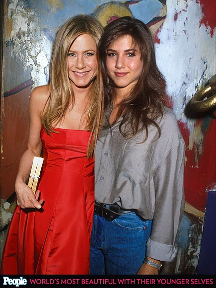 PEOPLE's 'Most Beautiful' Celebrities Posing with Their Younger Selves| Most Beautiful on Covers, Most Beautiful, Beyonce Knowles, Christina Applegate, Cindy Crawford, Drew Barrymore, Gwyneth Paltrow, Jennifer Aniston, Jennifer Lopez, Jodie Foster, Julia Roberts, Kate Hudson, Leonardo DiCaprio, Meg Ryan, Michelle Pfeiffer