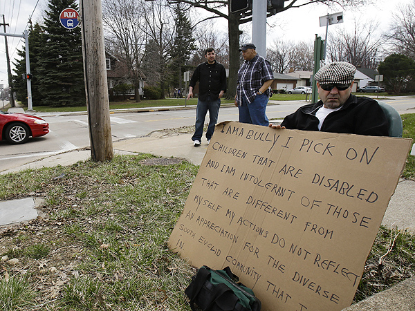 'I Am a Bully': Judge Orders Man Who Harassed Disabled Family to Hold Sign on Street Corner| Crime & Courts, Trials & Lawsuits, Real People Stories