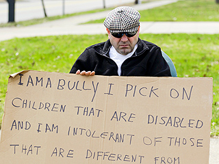 'I Am a Bully': Judge Orders Man Who Harassed Disabled Family to Hold Sign on Street Corner